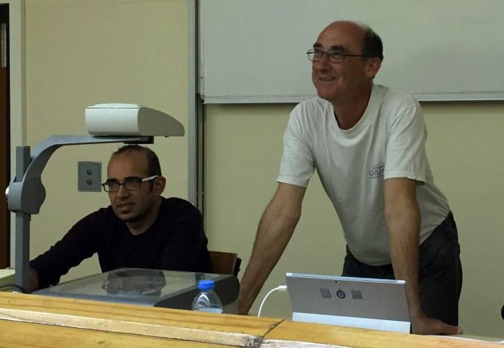 Cesare Tarabocchia during his speech to METU O-Team